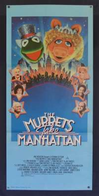 The Muppets Take Manhatten Movie Poster Daybill Jim Henson Frank Oz