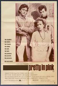 Pretty In Pink Movie Poster Original One Sheet 1986 Molly Ringwald John Hughes