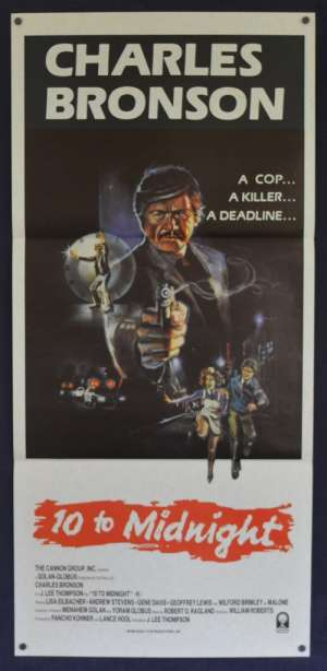 10 To Midnight 1983 Daybill movie poster Charles Bronson Andrew Stevens