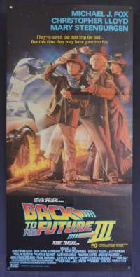 Back To The Future 3 Movie Poster Original Daybill Drew Struzan Art Michael J Fox