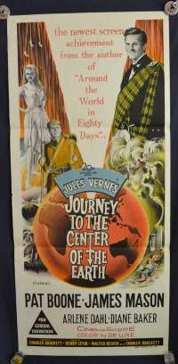 Journey To The Center Of The Earth Daybill Poster Original 1959 James Mason