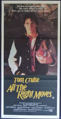 All The Right Moves Tom Cruise Australian Daybill Poster