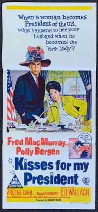 Kisses For My President Poster Original Daybill 1964 Fred MacMurray Vintage