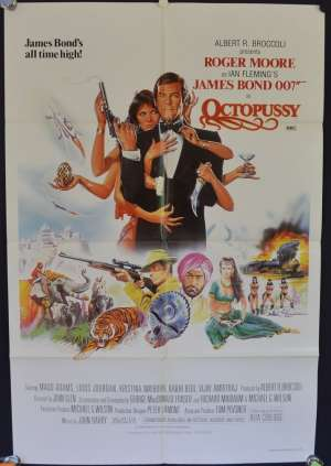 Octopussy Poster Original One Sheet 1983 Roger Moore James Bond Maud Adams