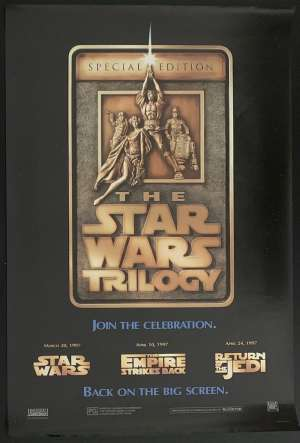 Star Wars Poster Original One Sheet 1997 Trilogy Special Edition