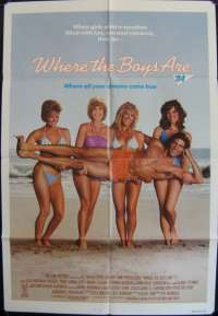 Where the Boys Are Movie Poster Original One Sheet 1984 Lisa Hartman Allan Carr