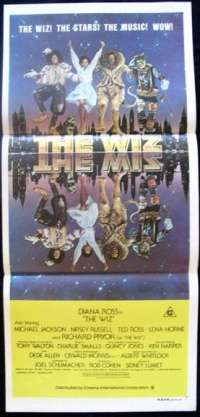 The Wiz Daybill Movie poster Michael Jackson Diana Ross