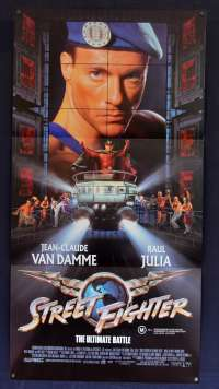 Street Fighter Movie Poster Original Daybill 1994 Van Damme Kylie Minogue