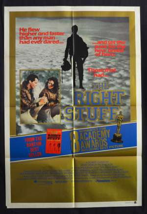 The Right Stuff 1983 One Sheet movie poster Ed Harris Sam Shepard Barbara Hershey Space Program