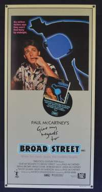 Give My Regards to Broad Street 1984 Daybill movie poster Paul McCartney Ringo Starr Beatles