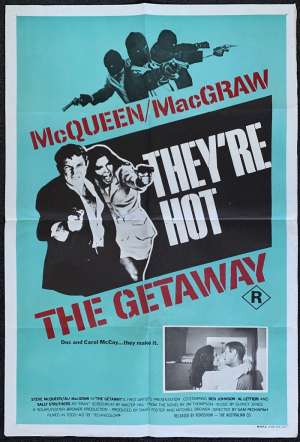 The Getaway Poster Original One Sheet Rare Art 1972 Steve McQueen Ali MacGraw