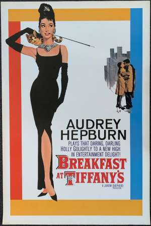 Breakfast At Tiffany's Poster Commercial Reprint Audrey Hepburn George Peppard