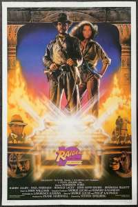 Raiders Of The Lost Ark Poster Original USA One Sheet 1991 Re-Issue Indiana Jones