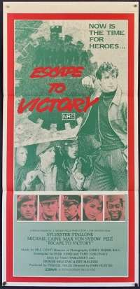 Escape To Victory movie poster Original Daybill Sylvester Stallone Michael Caine