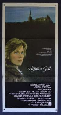 Agnes Of God Movie Poster Original Daybill 1985 Jane Fonda Anne Bancroft Meg Tilly