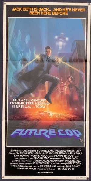 Future Cop Poster Original Daybill 1984 AKA Trances Helen Hunt Tim Thomerson