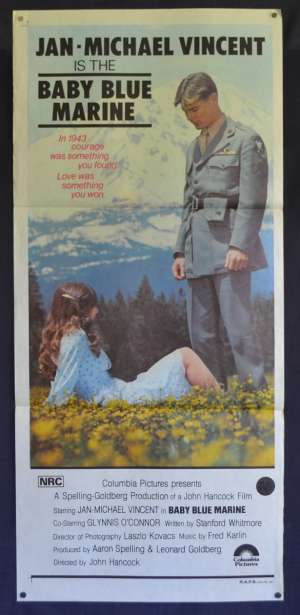 Baby Blue Marine Movie Poster Original Daybill 1976 Jan-Michael Vincent