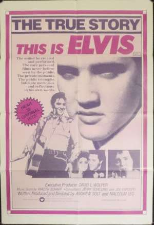This Is Elvis Poster David Scott Australian One Sheet