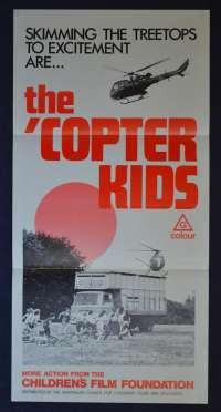 The Copter Kids Movie Poster Original Daybill Jonathan Scott-Taylor Sophie Ward