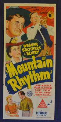 Mountain Rhythm Movie Poster Original Daybill Aka Harvest Days 1943 Leon Weaver