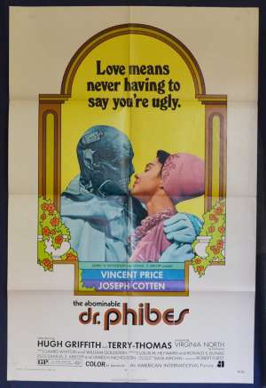 The Abominable Dr. Phibes Movie Poster USA One Sheet Vincent Price