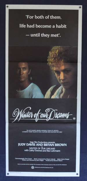 Winter Of Our Dreams 1981 Daybill movie poster Bryan Brown Judy Davis
