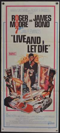 Live And Let Die Poster Original Rare Daybill 1973 Roger Moore James Bond