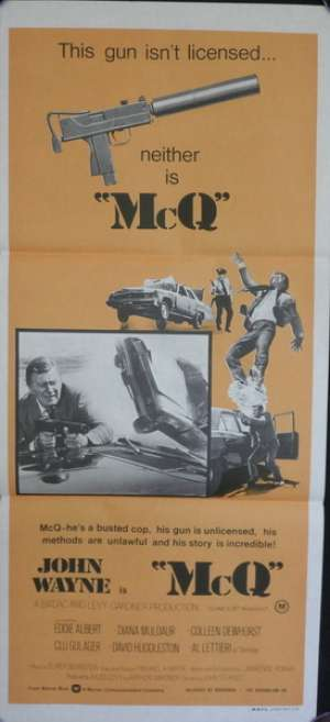 McQ Movie Poster Original Daybill John Wayne