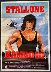 Rambo 3 Poster Original One Sheet 1988 Sylvester Stallone Richard Crenna