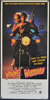 Young Warriors Movie Poster Original Daybill 1983 Biker artwork Richard Roundtree