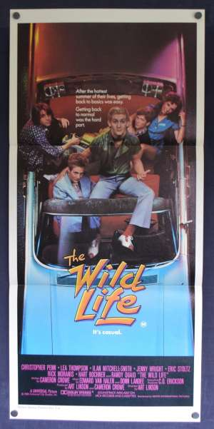 The Wild Life Daybill Poster Original 1984 Christopher Penn Lea Thompson Eric Stoltz