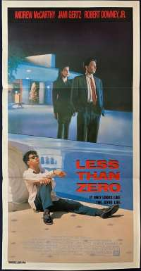 Less Than Zero 1987 movie poster Robert Downy Jnr Daybill