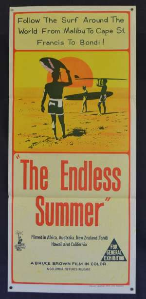 The Endless Summer Daybill Poster Rare Original Release 1966 Surfing