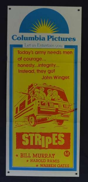 Stripes Daybill Poster Original 1981 Duo Tone art Bill Murray John Candy
