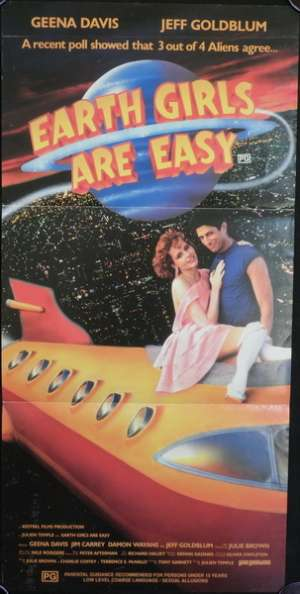 Earth Girls Are Easy Movie Poster Original Daybill
