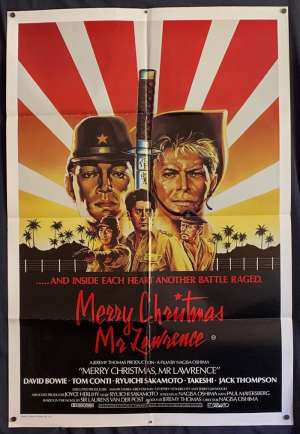 Merry Christmas Mr Lawrence Movie Poster Original One Sheet David Bowie Tom Conti