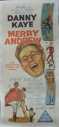 Merry Andrew 1958 Danny Kaye Daybill Linen Backed movie poster