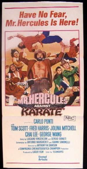 Mr. Hercules Against Karate Daybill movie poster