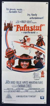 Pufnstuf Movie Poster Original Daybill 1970 Jack Wild Mama Cass