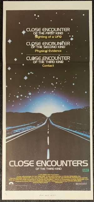 Close Encounters Of The Third Kind Poster Original Daybill 1977 Richard Dreyfuss UFO's