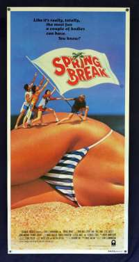 Spring Break 1983 Daybill Movie poster David Knell Perry Lang