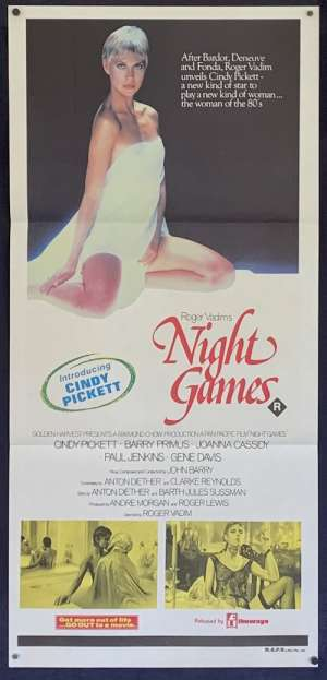 Night Games Daybill Poster Original 1980 Cindy Pickett Roger Vadim Sexploitation