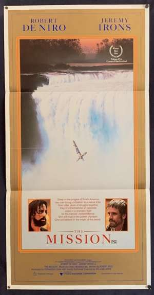 The Mission Poster Original Daybill Poster 1986 Robert De Niro Jeremy Irons