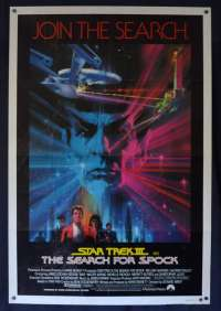 Star Trek 3 The Search For Spock Poster Original One Sheet 1984 Bob Peak Art