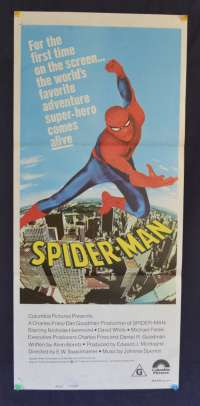 Spiderman 1977 movie poster Australian Daybill Nicholas Hammond