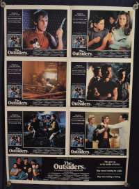The Outsiders Movie Poster Original Photosheet 1983 Matt Dillion Tom Cruise Patrick Swayze