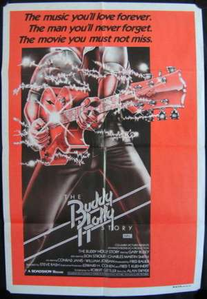 The Buddy Holly Story Movie Poster One Sheet Gary Busey