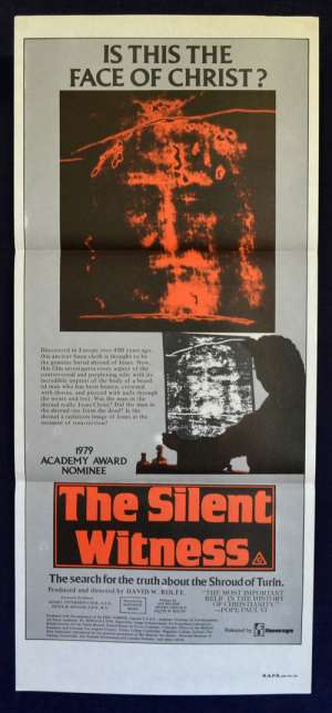 The Silent Witness Movie Poster Original Daybill Shroud Of Turin Documentary