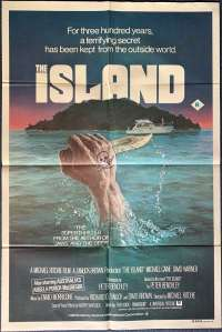The Island Poster Original One Sheet 1980 Michael Caine Pirates