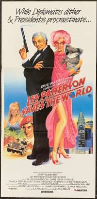 Les Patterson Saves The World 1987 Daybill movie poster Dame Edna